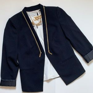 Ivanka Trump navy blue open front blazer size 4